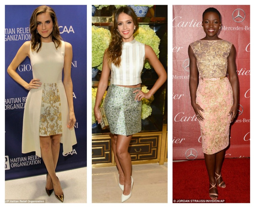 Alison Williams Jessica Alba Lupita Nyong'o