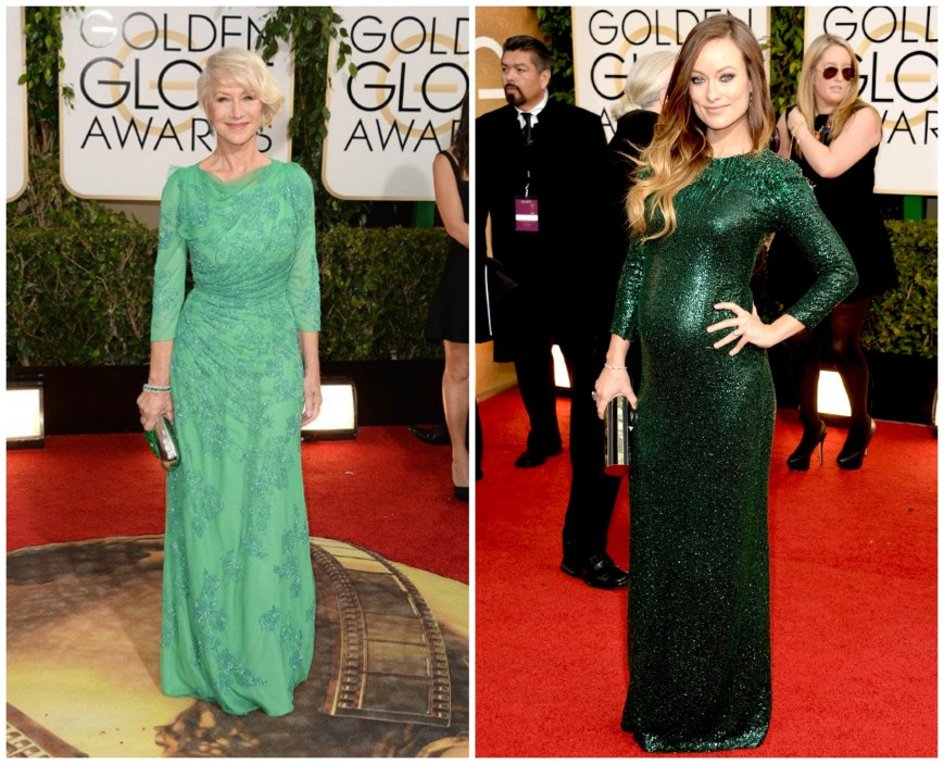 Helen Mirren and Olivia Wilde who wears Guicci