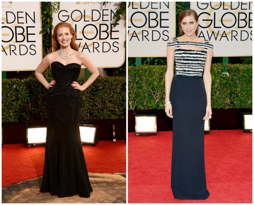 Jessica Chastain wearing Givenchy  and Alison Williams in Alexander Mc Queen