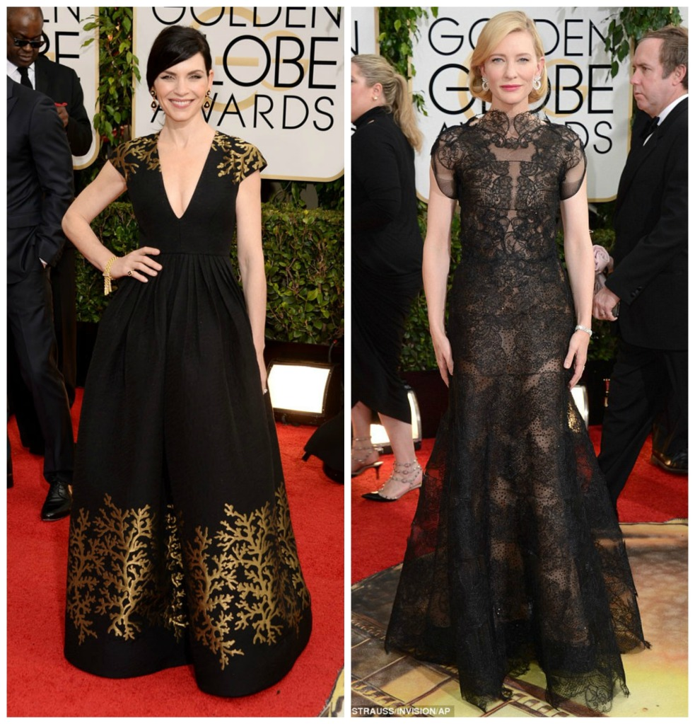 Julianna Margulies donning Andrew Gn and Cate Blanchett wearing Armani