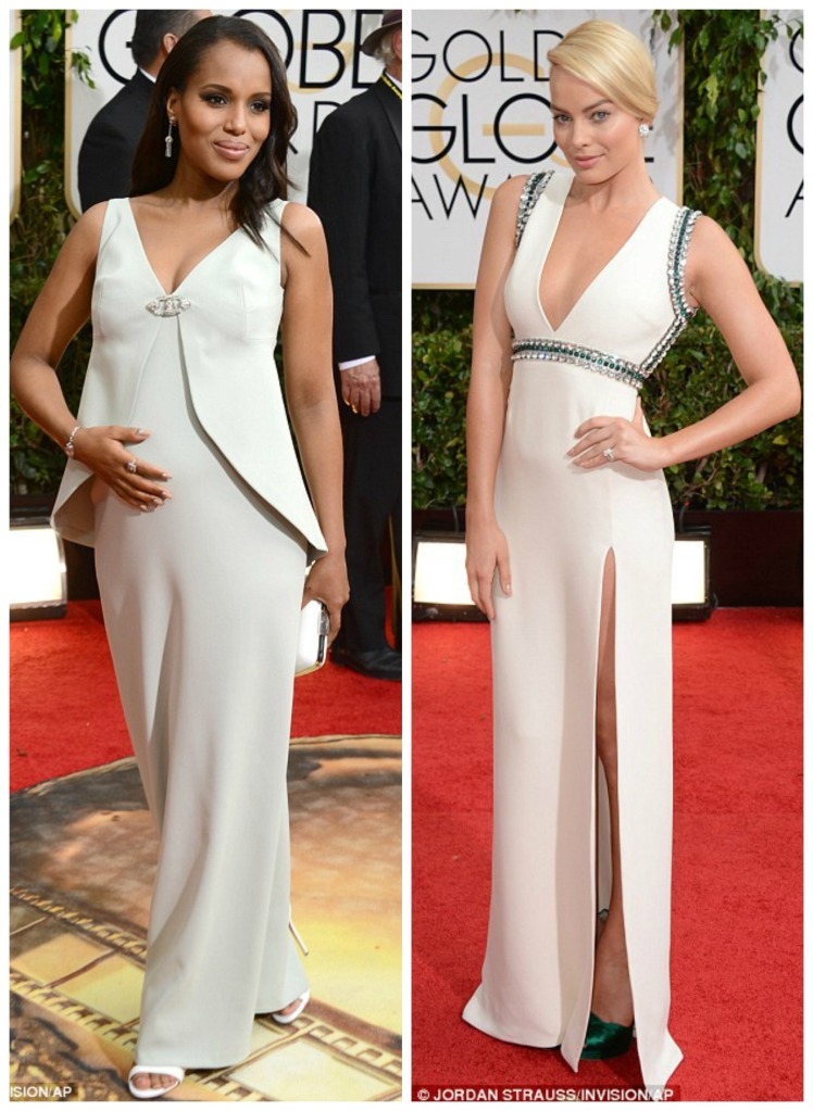 Pregnant Kerry Washington wears Balenciaga and Margot Robbie in Guici