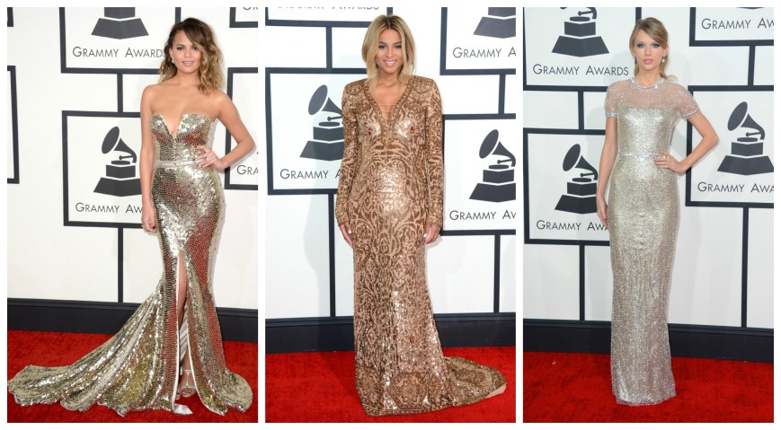 Christie Teigan wearing Johanna Johnson, Ciara and Taylor Swift in Gucci gowns