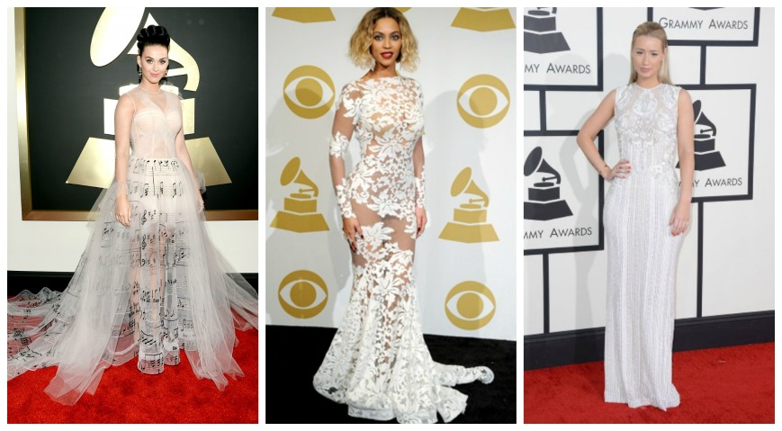 Katy Perry wearing Valentino, Beyonce in Michael Costello and Iggy Azaalea in Ellie Sabb.jpg