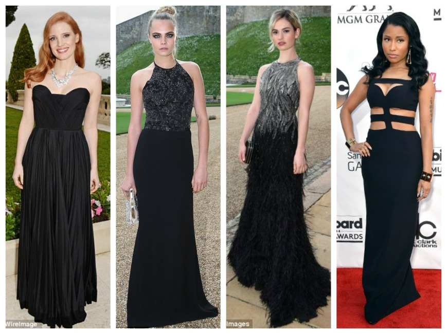 Jessica Chastain, Cara Delevigne, Lily James and Nicki Minaj