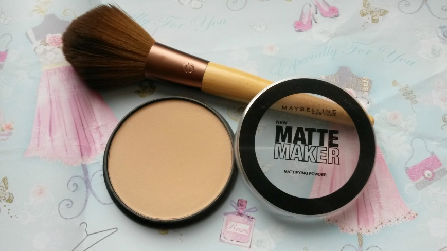 Maybelline Matte Maker Powder and Ecotools brush