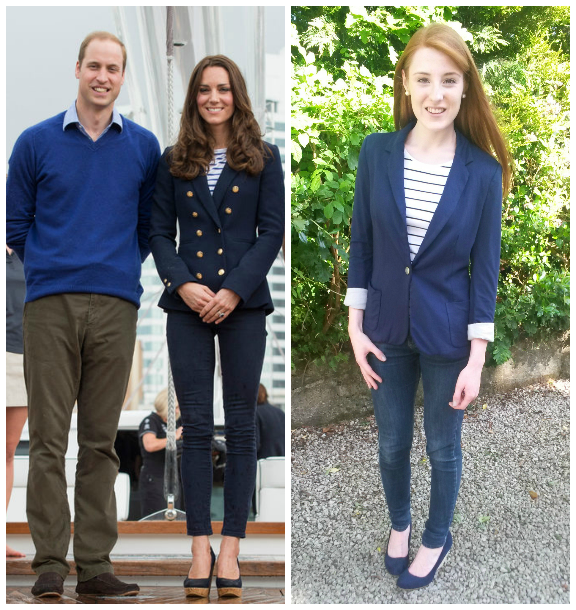 What Kate Wore Striped Top With Blazer Kate Middleton