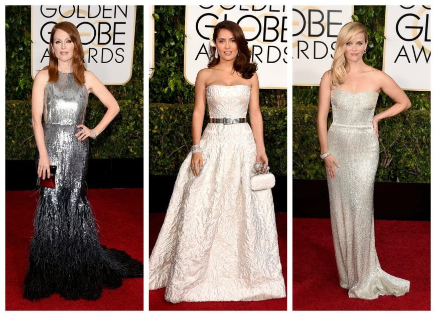 ulianne Moore, Slam Hayek and Reece Witherspoon at the Golden Globes 2015